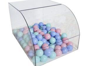 Ball Pool für Kaninchen mit Pastell farbige Kugeln