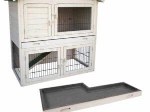 Kaninchenhaus im Freien - mit zwei Etagen
