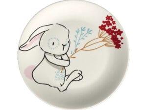 Teller für Kaninchen mit Blumen für Leckereien