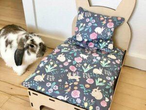 Bett für Kaninchen blume