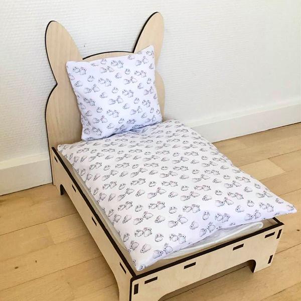 Bett für Kaninchen weiß