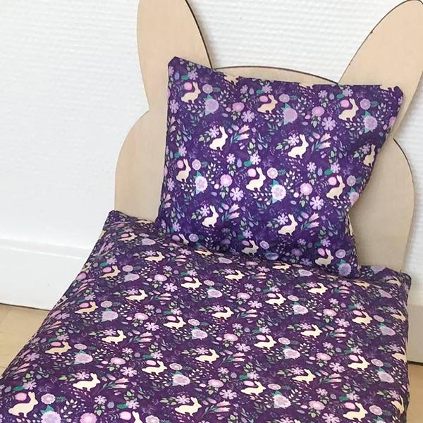 Bett für Kaninchen lila