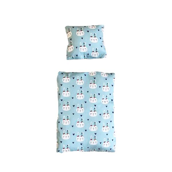 Bettwäsche für Kaninchenbett hellblau Indische Kaninchen