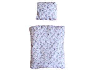Bettwäsche für Kaninchenbett rosa Kaninchen Gesichter